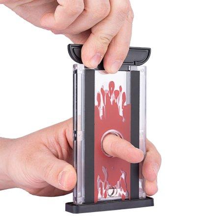 Magic trick - finger chopper locking - the mini guillotine