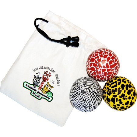 Jonglierball Beanbag Wildlife 3er-Set, 65 mm, 110 gr