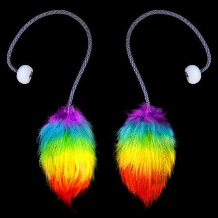 Fuzzy Poi - Rainbow