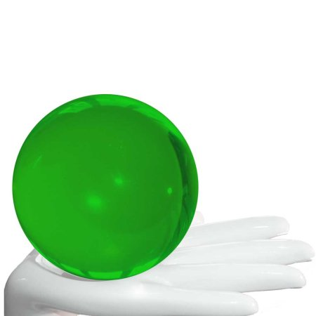Acrylic contact juggling ball green