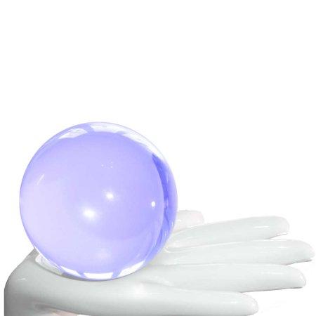 Acrylic contact juggling ball UV blue