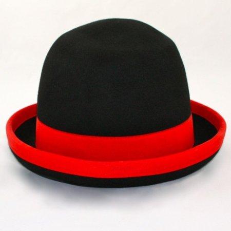 Jonglierhut Melone Juggle Dream schwarzer Hut und rotes Band außen