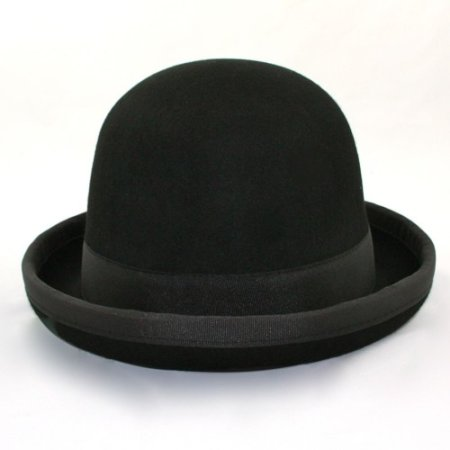 Juggling bowler hat Juggle Dream black hat and black ribbon outside