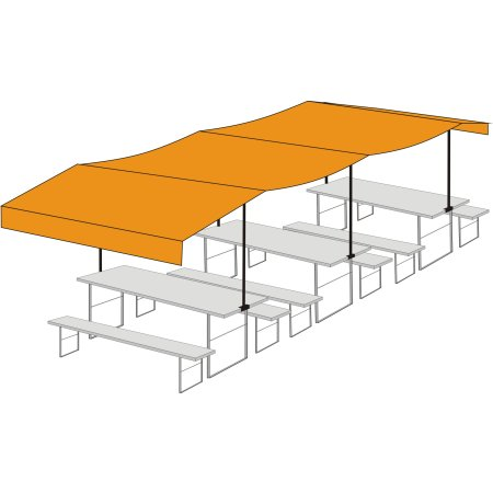 Beer table cover from Newton - Three-seater