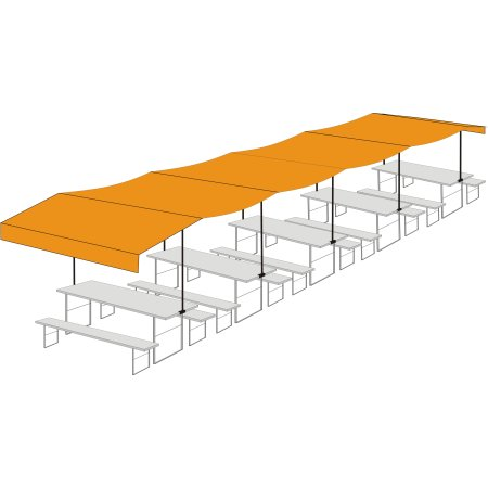 Beer table cover from Newton - Five-seater