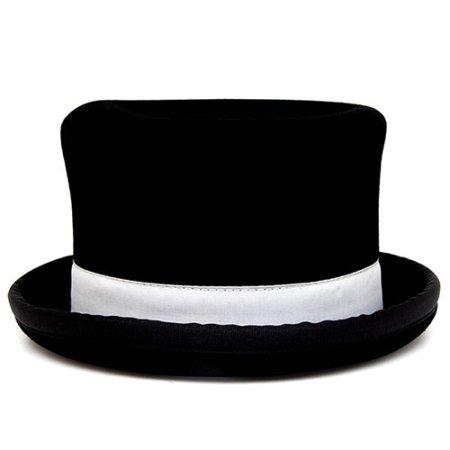 Jonglierhut  Zylinder Juggle Dream schwarzer Hut mit weißes Band außen