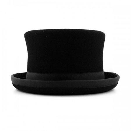 Juggling Topper hat Juggle Dream black hat and black ribbon outside