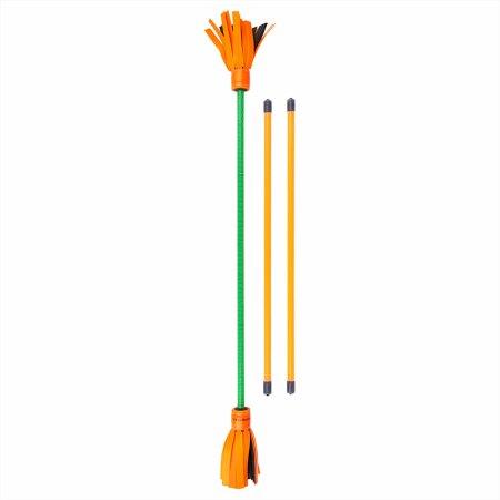 Enden orange, Körper grün