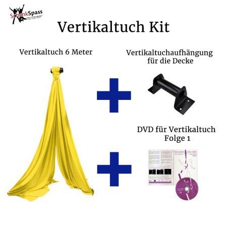 - Vertikaltuch Farbe Gelb + Aufhängung für die Decke Schwarz