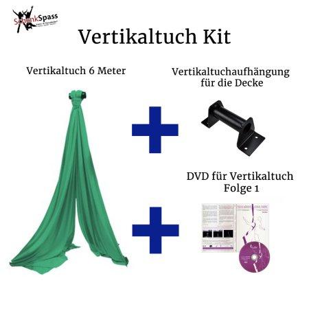 - Vertikaltuch Farbe Grün + Aufhängung für die Decke Schwarz