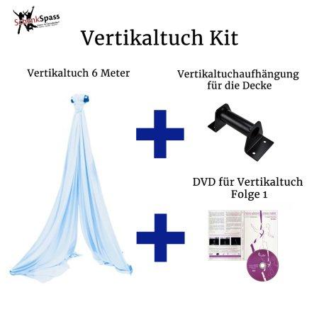 - Vertikaltuch Farbe Hellblau + Aufhängung für die Decke Schwarz