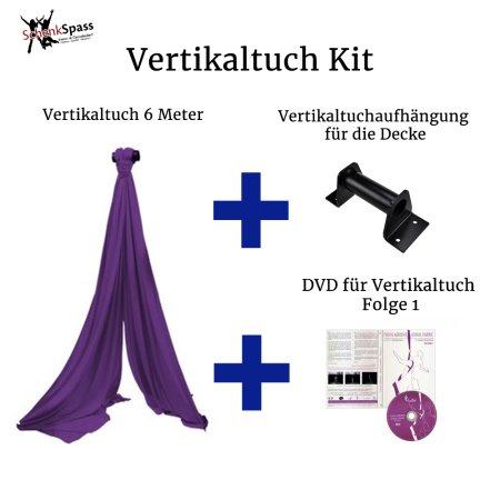 - Vertikaltuch Farbe Lila + Aufhängung für die Decke Schwarz
