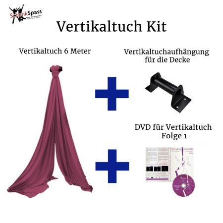- Vertikaltuch Farbe Maroon + Aufhängung für die Decke Schwarz