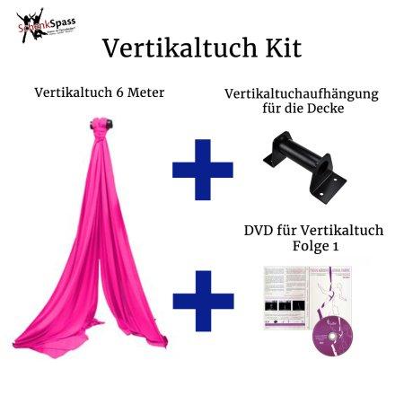 - Vertikaltuch Farbe Pink + Aufhängung für die Decke Schwarz