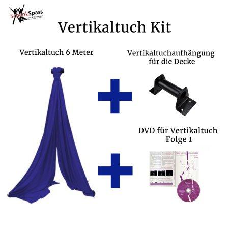 - Vertikaltuch Farbe Royalblau + Aufhängung für die Decke Schwarz