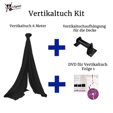 - Vertikaltuch Farbe Schwarz + Aufhängung für die Decke Schwarz