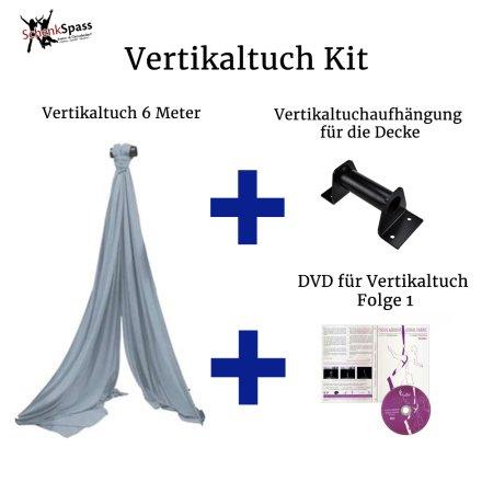 - Vertikaltuch Farbe Silber-grau + Aufhängung für die Decke Schwarz