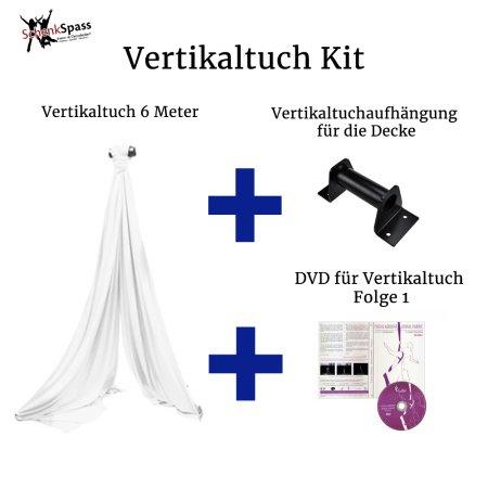 - Vertikaltuch Farbe Weiß + Aufhängung für die Decke Schwarz