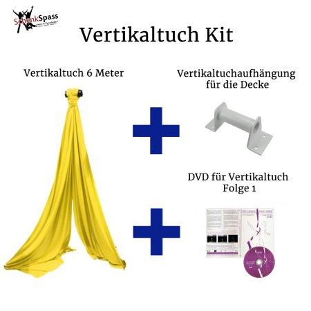 - Vertikaltuch Farbe Gelb + Aufhängung für die Decke Weiß