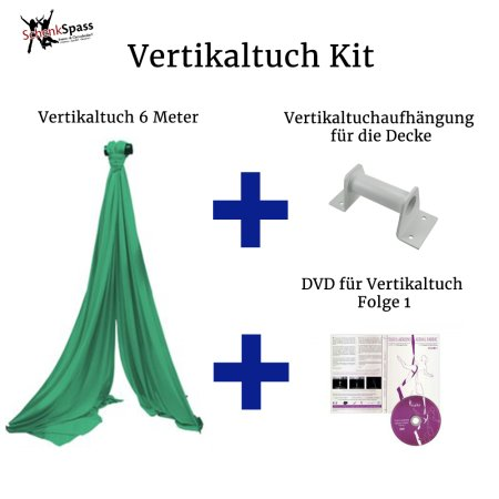 - Vertikaltuch Farbe Grün + Aufhängung für die Decke Weiß