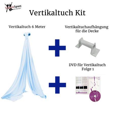 - Vertikaltuch Farbe Hellblau + Aufhängung für die Decke Weiß