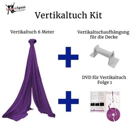 - Vertikaltuch Farbe Lila + Aufhängung für die Decke Weiß