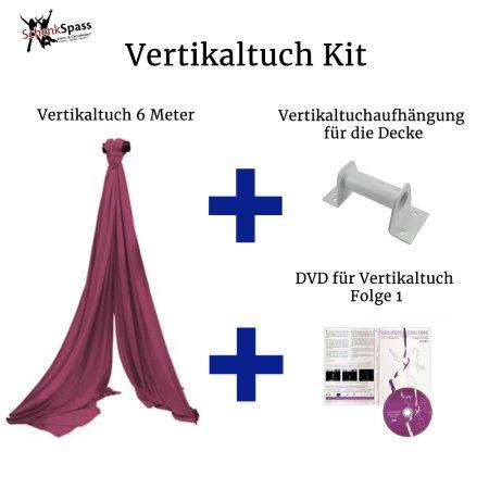 - Vertikaltuch Farbe Maroon + Aufhängung für die Decke  Weiß