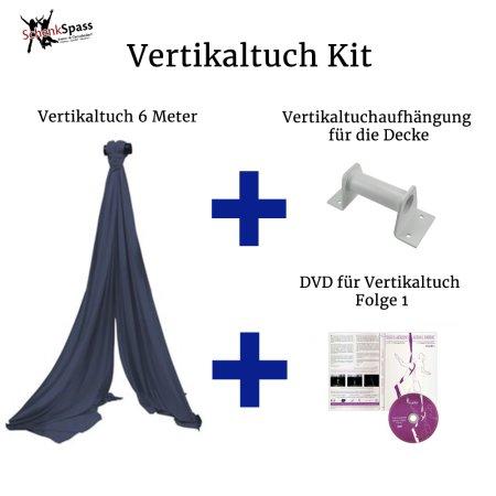 - Vertikaltuch Farbe Navy Blau + Aufhängung für die Decke  Weiß
