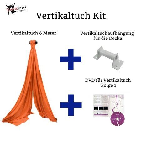- Vertikaltuch Farbe Orange + Aufhängung für die Decke  Weiß