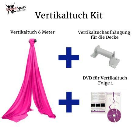 - Vertikaltuch Farbe Pink + Aufhängung für die Decke  Weiß