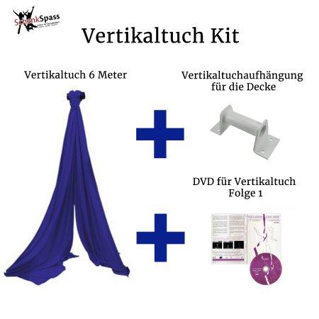 - Vertikaltuch Farbe Royalblau + Aufhängung für die Decke Weiß