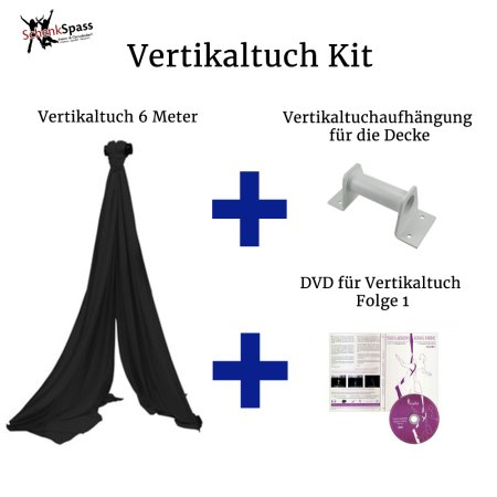 - Vertikaltuch Farbe Schwarz + Aufhängung für die Decke Weiß