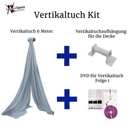 - Vertikaltuch Farbe Silber-grau + Aufhängung für die Decke  Weiß