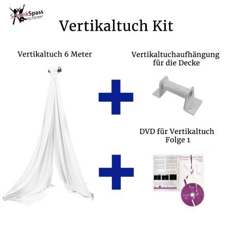 - Vertikaltuch Farbe Weiß + Aufhängung für die Decke Weiß