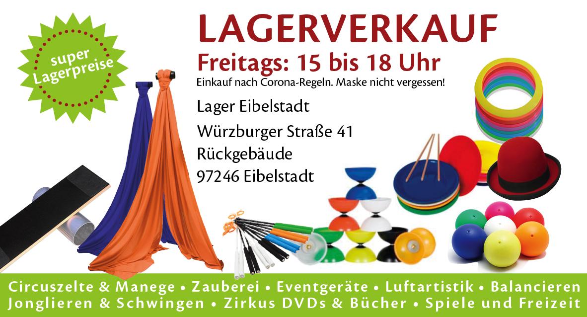 Lagerverkauf bei SchenkSpass Eibelstadt bei W
