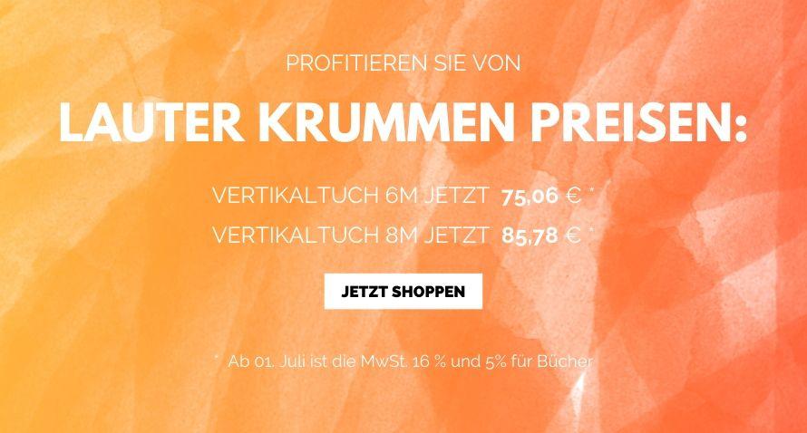 Krummer Preis 19 % MwSt. wird zu 16 %